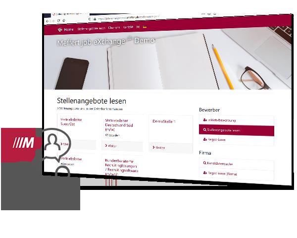Meffert job eXchange®: Software für Personaldienstleister mit Kandidaten Jobportal
